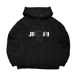 JIRORIパーカー(黒) Big Hoodies