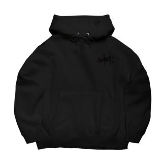 """""""SMEASEA"""" big silhouette hoodie black Big Hoodies"""