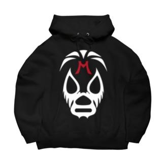 MIL MASC ARAS MASK-ミル・マスカラスマスク 白ロゴ Big Hoodies