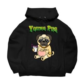 YOUNG PUG Big Hoodies