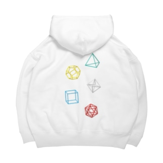 Regular Polyhedron Big Hoodies