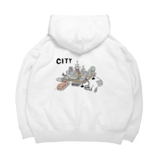 シティー オンザ ボード Big Hoodies