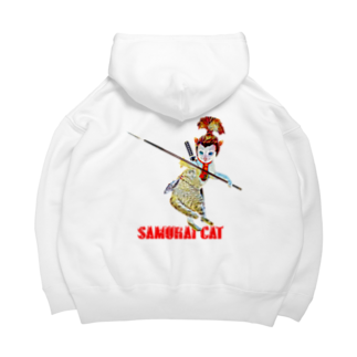 Rock catのSAMURAI CAT 槍 Big Hoodies