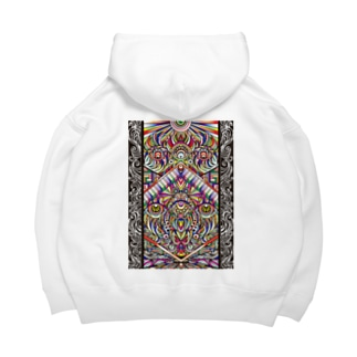Facing eyes 'color' Big Hoodies