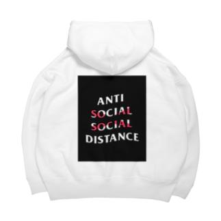 SH-のAnti social social distance  Big Hoodies