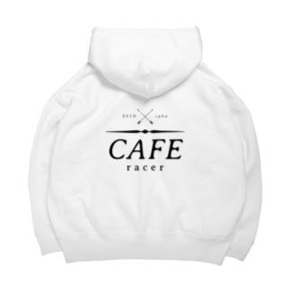 Caferacer ロゴ ブラック Big Hoodie