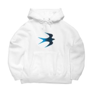 青い鳥 Big Hoodies