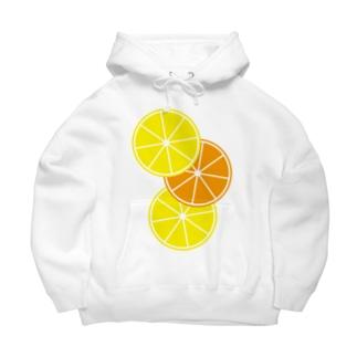 レモンとオレンジ Big Hoodies