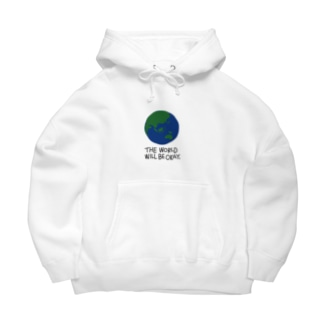 Earth -white- Big Hoodies