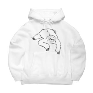 sloth なまけもの(w/b) Big Hoodies