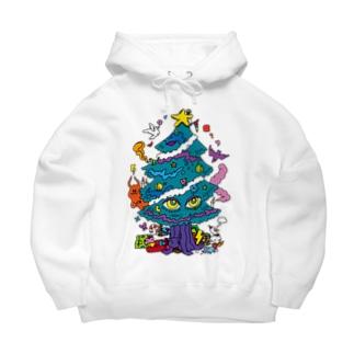 CHEBLOのCALL MOLA 《Christmas tree》 Big Hoodies
