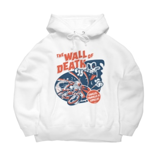 the Wall of Death : Navy / Red Big Hoodies