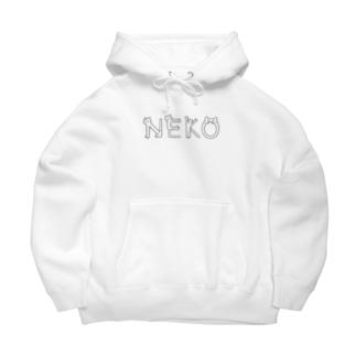 NEKO(ホワイト) Big Hoodies