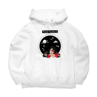 テンテン商店 in SUZURIのテンテンコ お絵かきシリーズ ~✰宇宙✰~ Big Hoodie