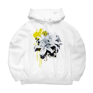 Lily Skull [Yellow] Big Hoodies