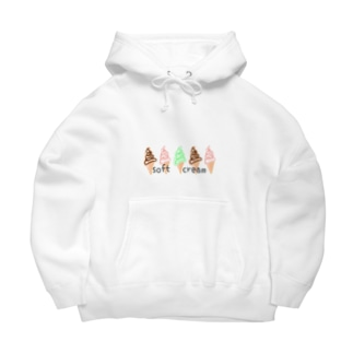 softcream カラフル Big Hoodies