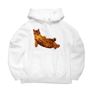 Elegant Cat 2 Big Hoodies