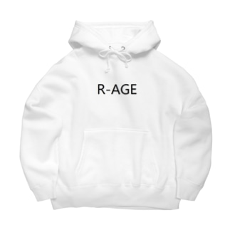 White R-AGE 21club Big Hoodies