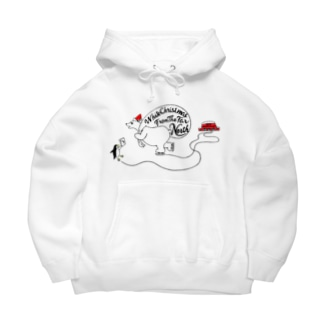White Christmas From The Far North Big Hoodies