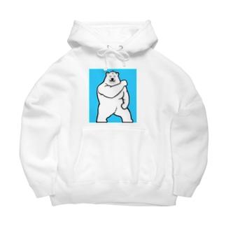 マッスル白熊💪 Big Hoodies