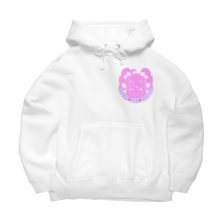 love me heart(ピンク) Big Hoodies