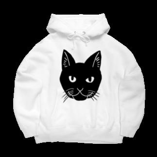 渡邊野乃香のお店の黒猫ジジ Big Hoodies