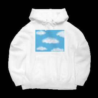 Atomatomの晴れた空と雲 Big Hoodies