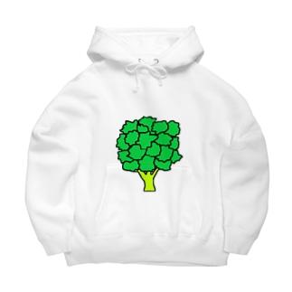 緑のアイツ Big Hoodie