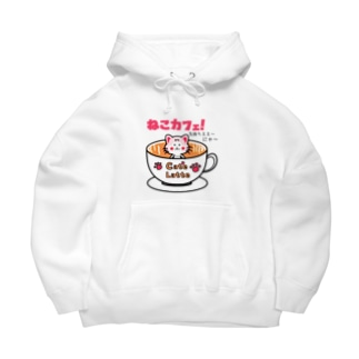 DESIGN SHOPのCat'e Latteねこカフェ!  Big Hoodies