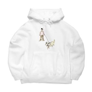 boy&dog (color ver.) Big Hoodies