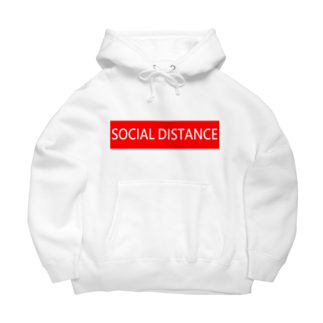 HirahiraのSocial distance Big Hoodies