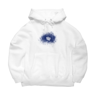 スネア打痕 BLUE Big Hoodies
