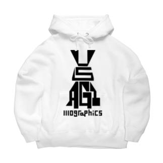 USAGI / 兎 Big Hoodies
