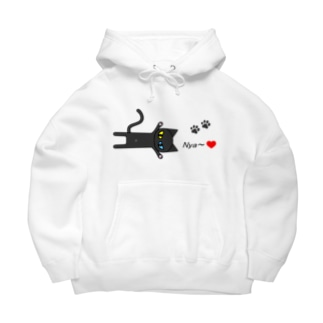 黒猫Nya~! Big Hoodies