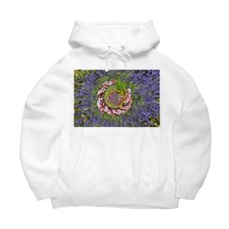 ぐるぐる花々 Big Hoodie