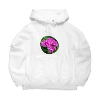 ピンク紫陽花💗 Big Hoodies