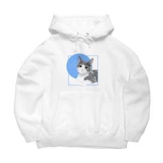 Love cats-マンチカン- Big Hoodies