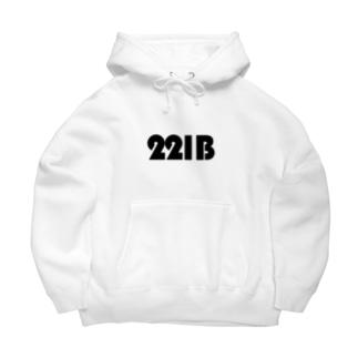 221Bパーカー白 Big Hoodies