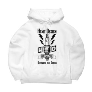 HSMT design PLUG Ver.2 BLACK Big Hoodies
