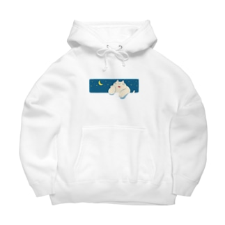 ねこ fat cat and moon Big Hoodies