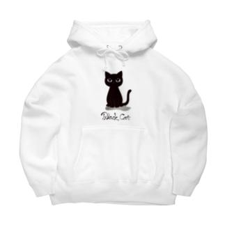 黒猫 Big Hoodies