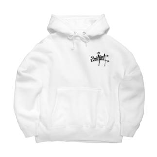 """SMEASEA"" big silhouette hoodie white Big Hoodies"