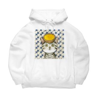 エッグタルト猫 Big Hoodie