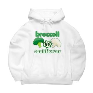 牛のTシャツ屋のブロッコリーvsカリフラワー Big Hoodies