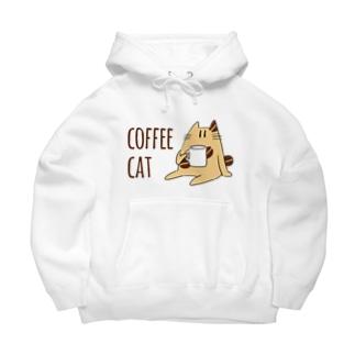 COFFEE CAT Big Hoodies
