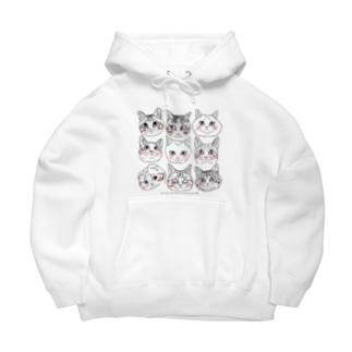 猫猫猫2 Big Hoodies