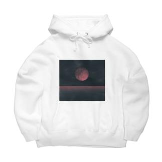 赤い月 Big Hoodie