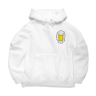 KAWAGOE GRAPHICSの頭の中はビールでいっぱい Big Hoodies