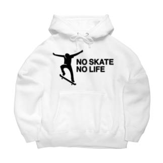 NO SKATE NO LIFE 黒ロゴ Big Hoodies