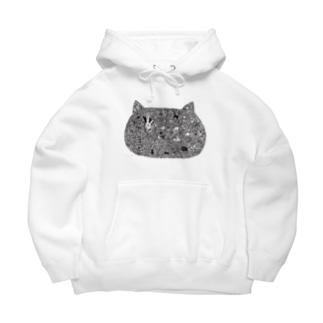 フジサキ(よころ)の猫も愛せばにゃーと鳴く Big Hoodies